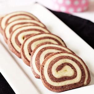 spirales sablées au chocolat