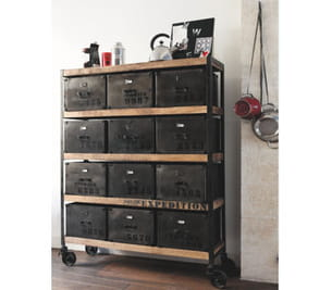 etag re manufacture en bois et m tal vieilli de maisons du monde. Black Bedroom Furniture Sets. Home Design Ideas