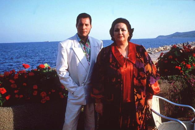 Freddie Mercury et et la cantatrice Montserrat Caballé