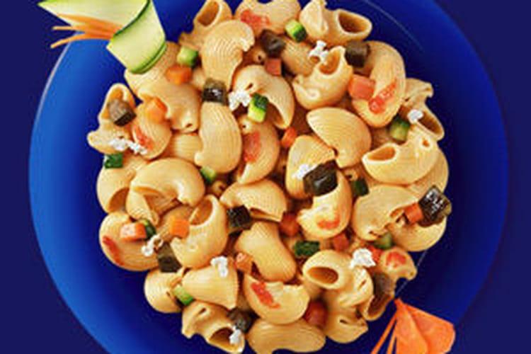 Pipe Rigate Integrali à la ricotta fraîche et aux légumes cuits à l'étouffée