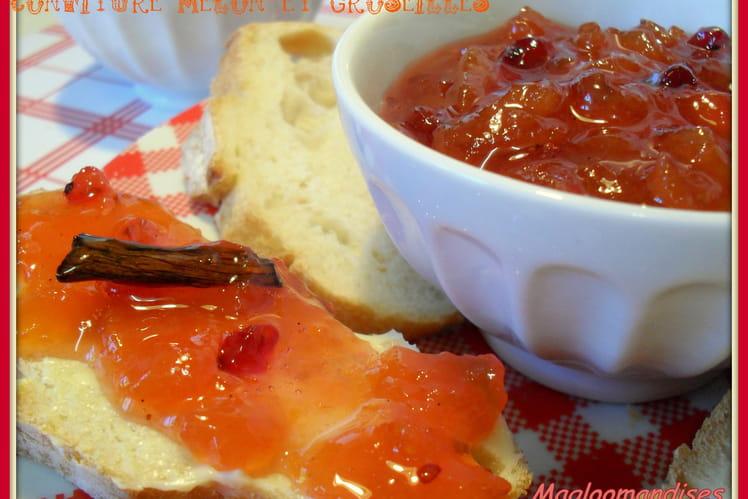 Confiture melon et groseilles vanillée