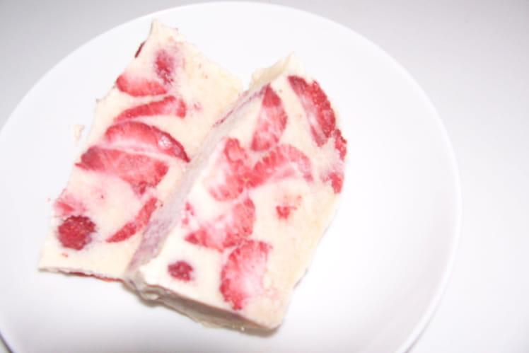 Entremets aux fraises