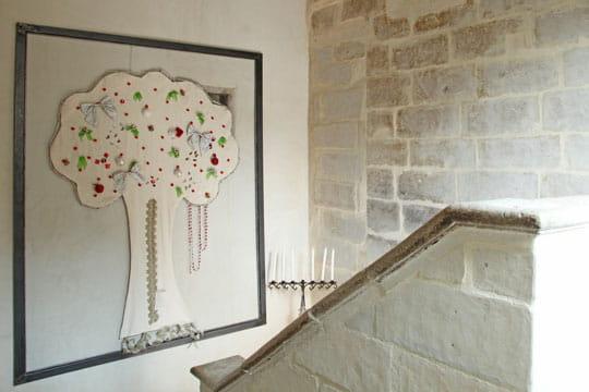 Un arbre dans les escaliers