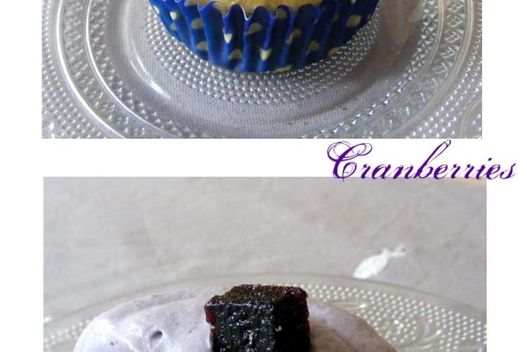 Cupcakes aux cranberries et bleuets (myrtilles)