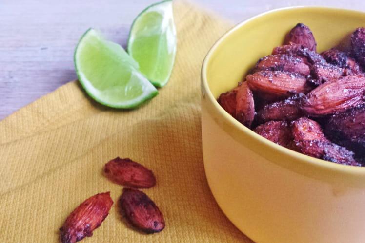 Amandes grillées aux épices