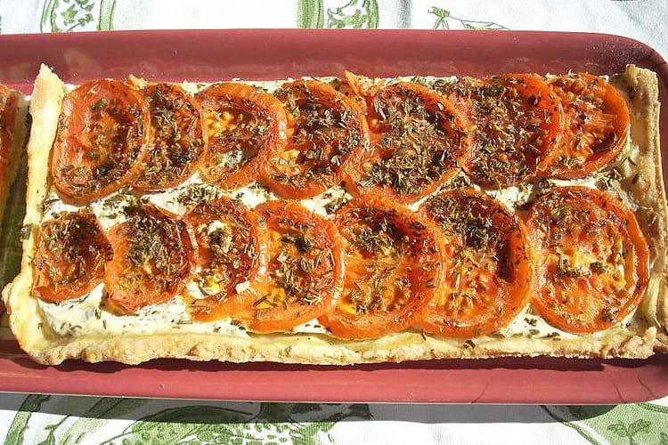 Tarte fine à la ricotta et à la tomate