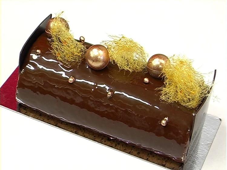 Buche Roulee Chocolat Caramel