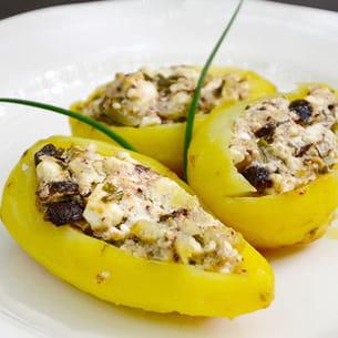 pommes de terre farcies aux olives et à la feta