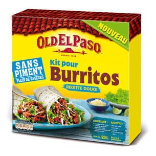 kit pour burritos sans piment de old el paso