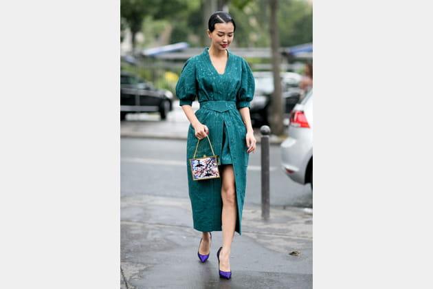Street looks fashion week haute couture : baroque