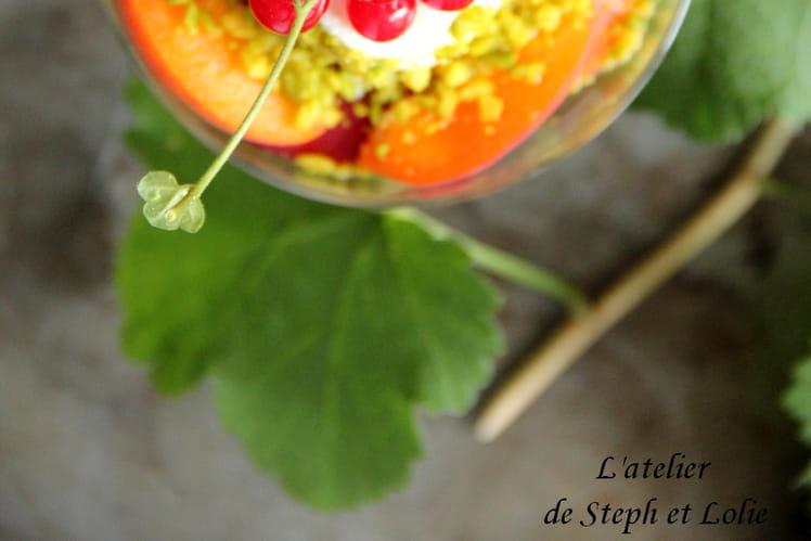 Yaourt aux abricots et nectarines