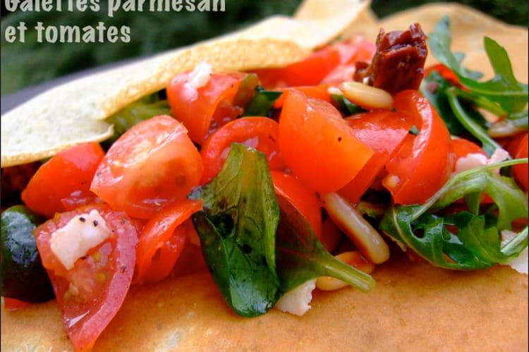 Galettes au parmesan et aux tomates