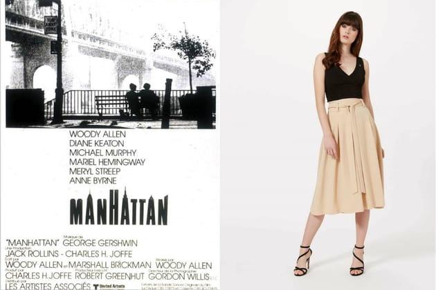 "Une jupe midi façon Jill dans ""Manhattan"""