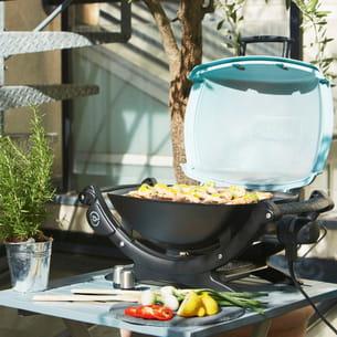 barbecue lectrique q140 de weber chez jardiland. Black Bedroom Furniture Sets. Home Design Ideas