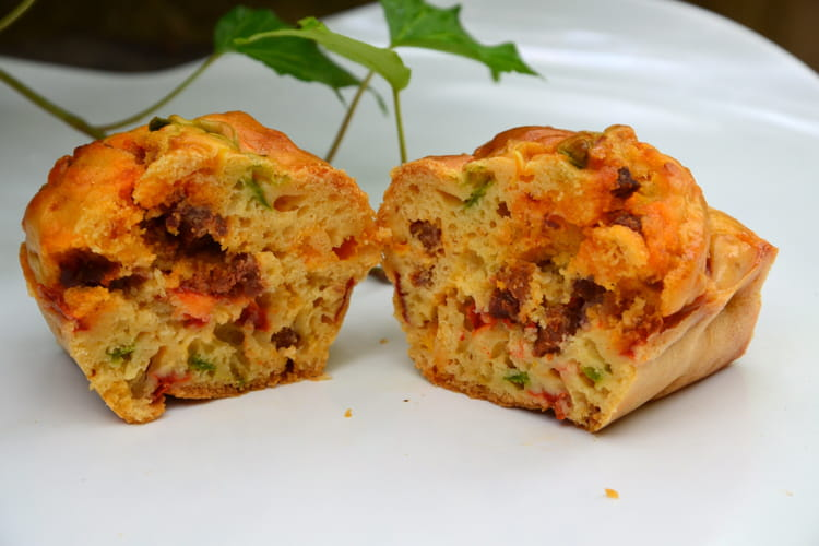 Cake aux poivrons et chorizo