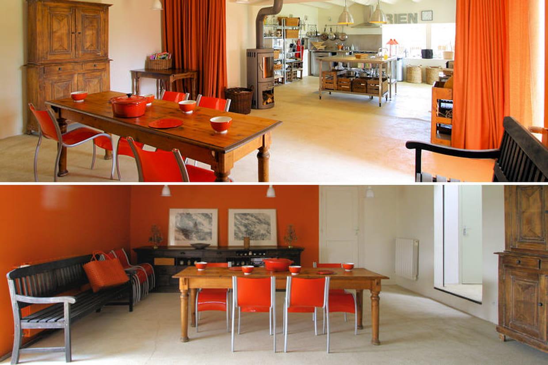 Salle manger for Salle a manger orange