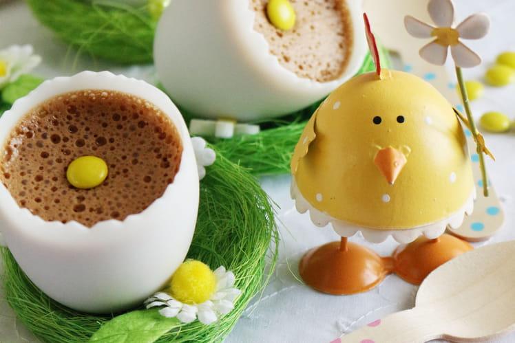 Mousse légère au chocolat et notes caramélisées