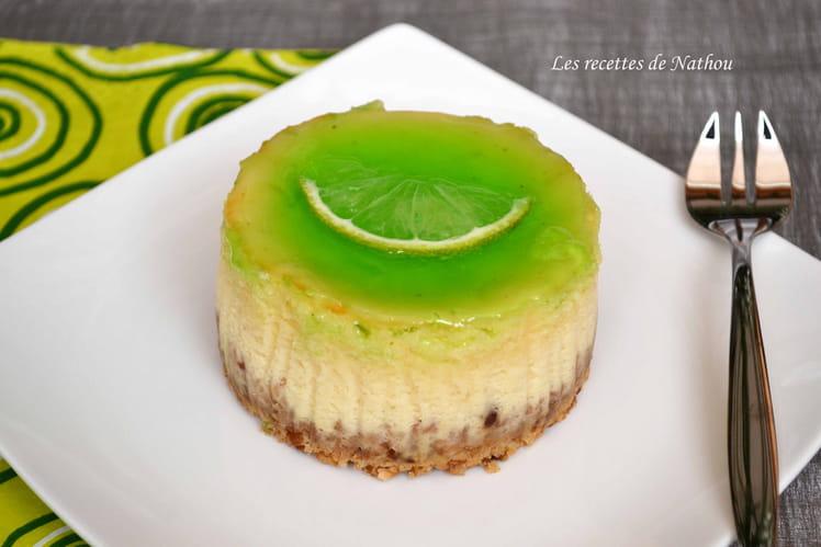 Minis cheesecake au combava et sirop au citron vert