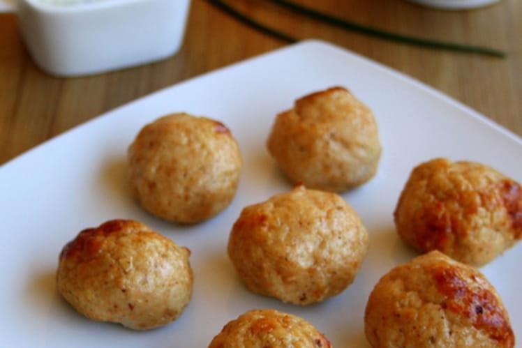 Boulettes de poulet tandoori et sauce raita au concombre