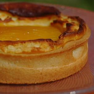 tarte à la ricotta et à la mangue