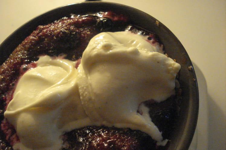 Chaud-froid de fruits rouges en gratin