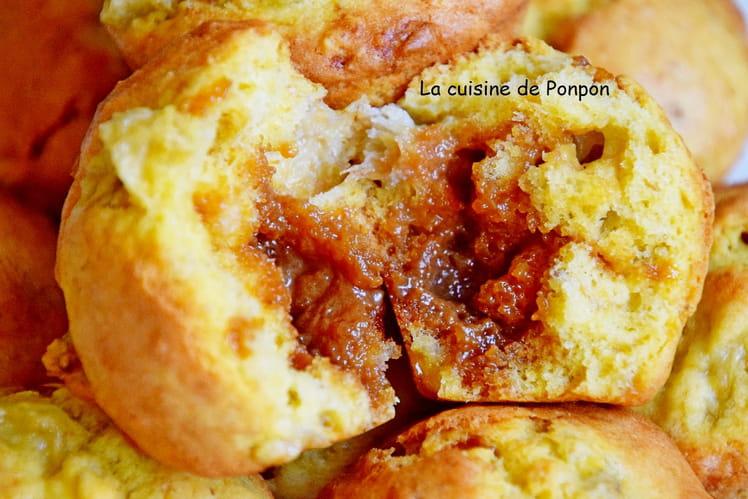 Muffin banane au caramel au beurre salé
