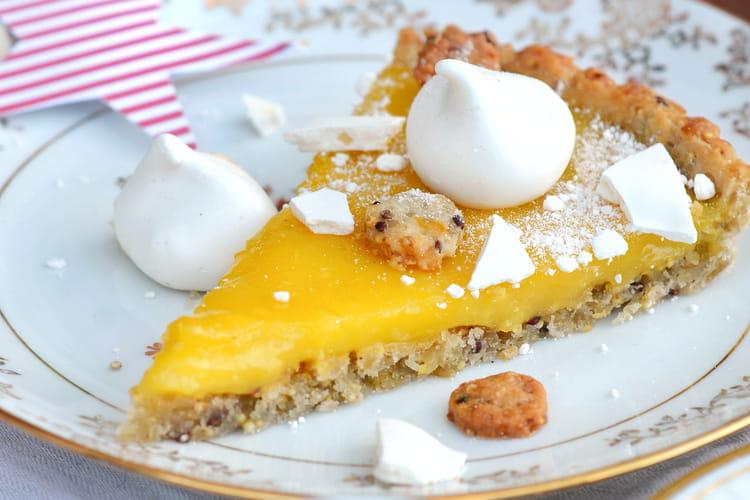 Tarte fine au citron, quinoa et boulgour