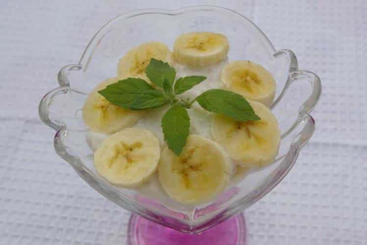 Perles du Japon au lait de coco et bananes