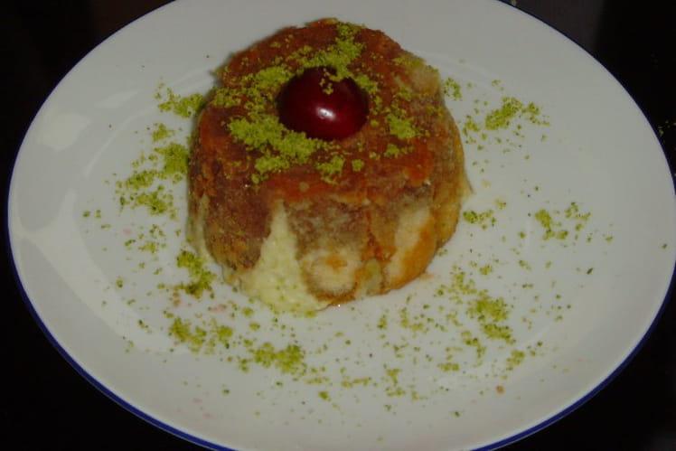 Charlottines pistache-cerise