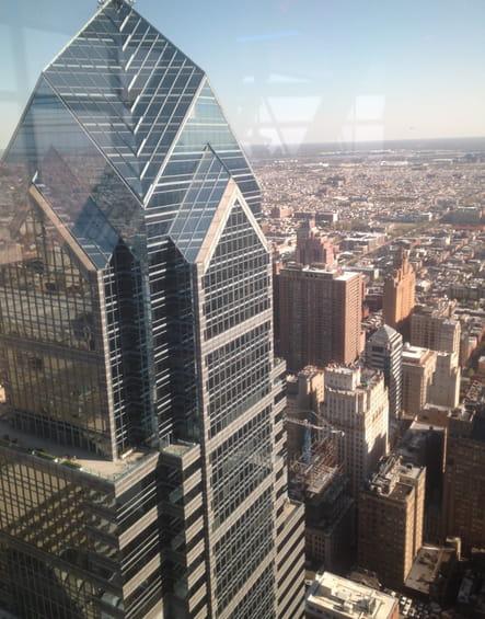 La vue imprenable en haut du One Liberty Deck