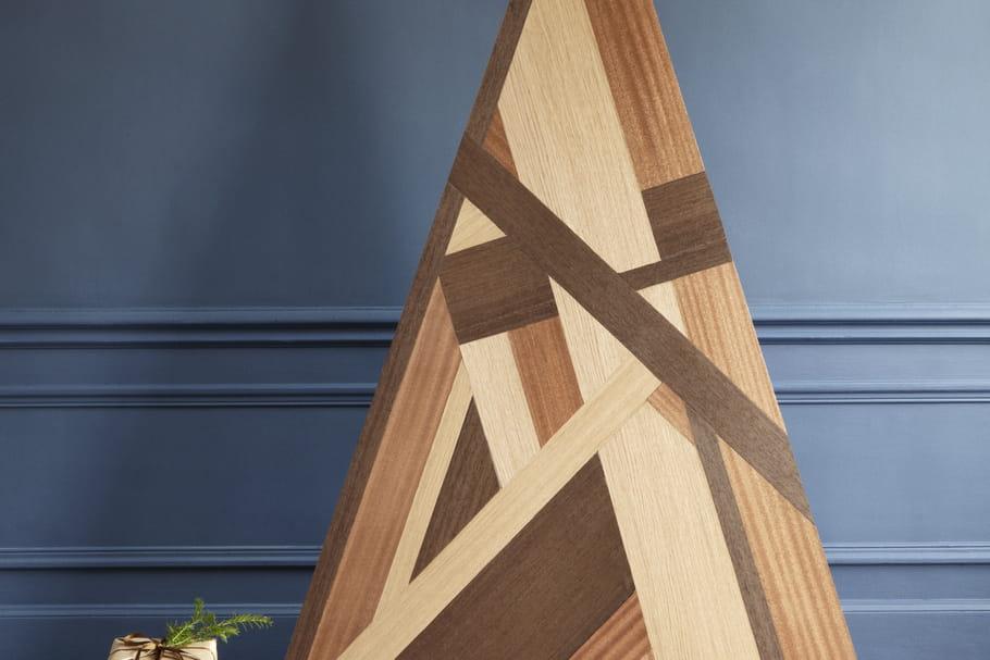 Diy fabriquer un sapin de no l en bois fa on marqueterie - Decoration de noel en bois a fabriquer ...