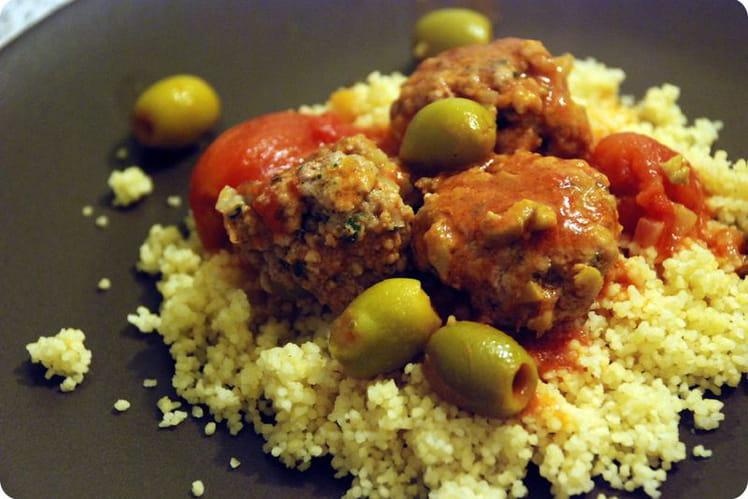 Boulettes de veau aux olives et citron confit