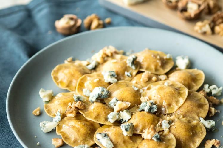 Ravioli bio au blé complet épinards, ricotta et fromage burrata Giovanni Rana aux noix et gorgonzola piquant