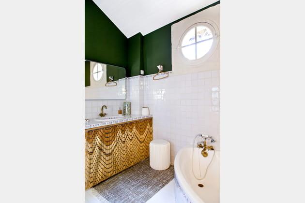 Une salle de bains relookée