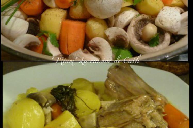 Cocotte de veau aux légumes à la crème