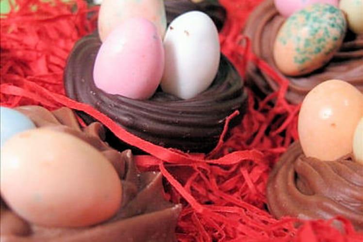 Nids en chocolat pour Pâques