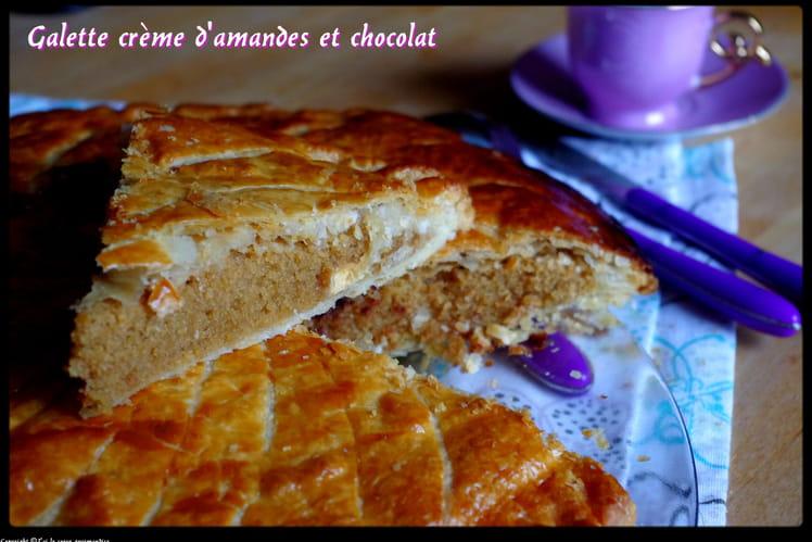 Galette crème d'amande et chocolat