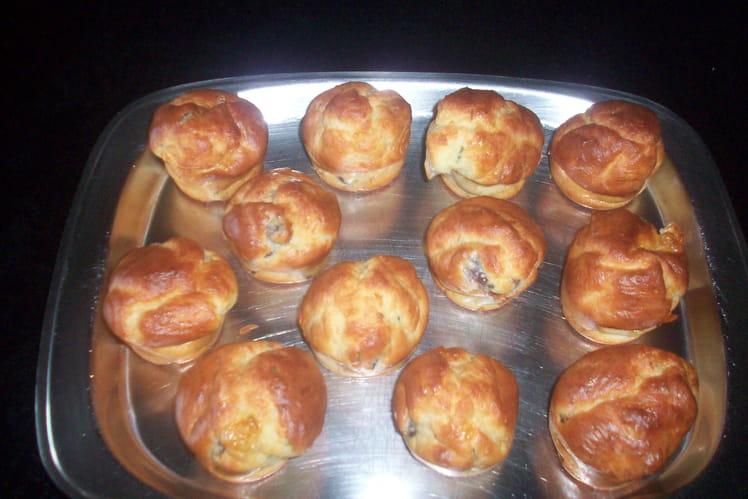 Muffins aux gésiers de canard confit et chèvre