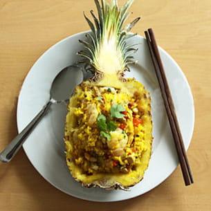riz à l'ananas et au poulet