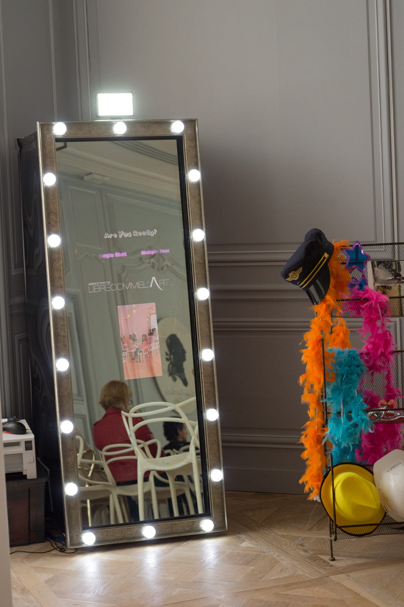 Un miroir photobooth for Miroir interactif
