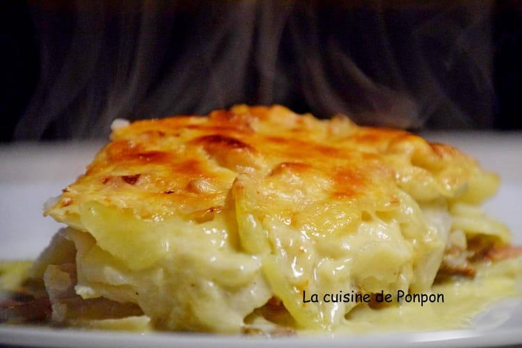 Gratin de céleri rave, pommes de terre et gorgonzola