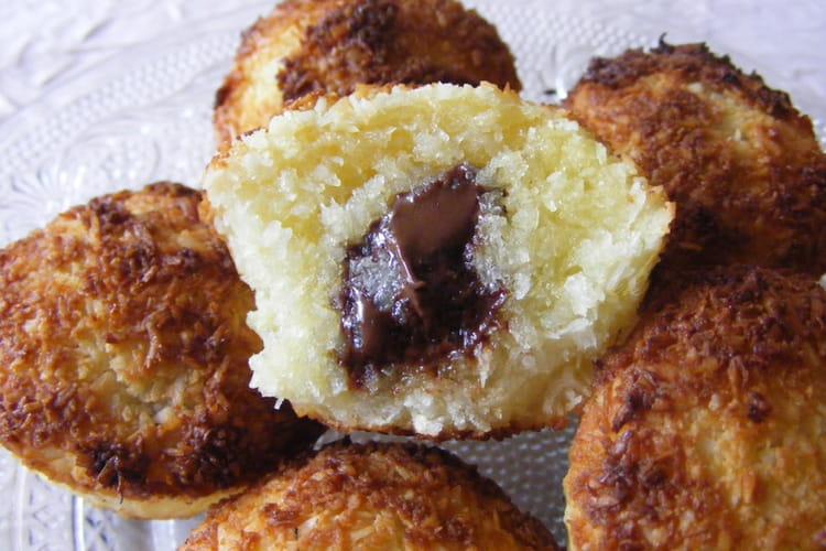 Muffins moelleux coco, coeur de chocolat