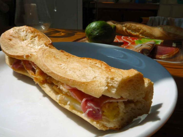 Recette de sandwich aux figues fra ches et au jambon sec - Cuisiner figues fraiches ...