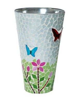 vase 'mosaïque papillon' de la chaise longue