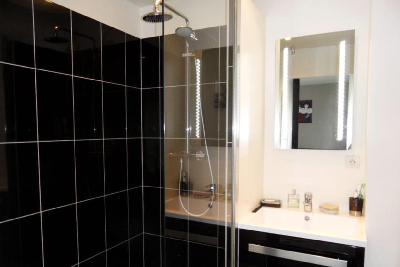 la salle d 39 eau moderne et spacieuse. Black Bedroom Furniture Sets. Home Design Ideas