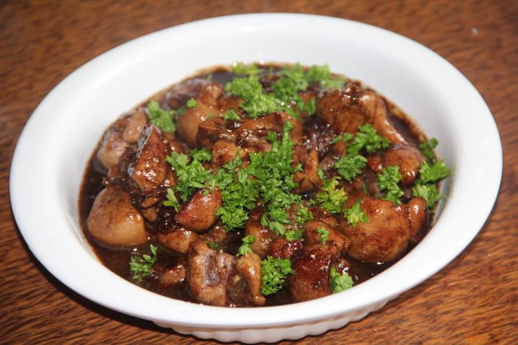 Rognon de veau au vinaigre balsamique et à l'ail