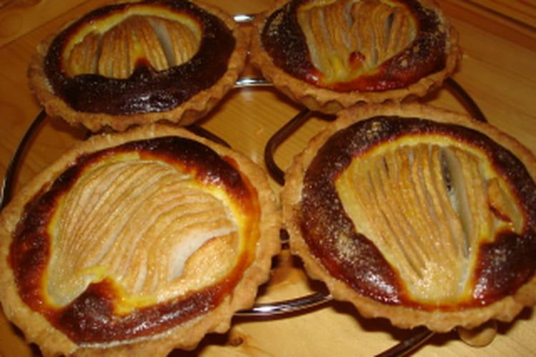 Tartelettes poires-chocolat