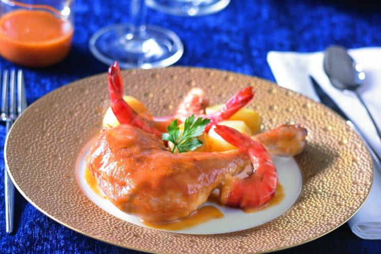 Poulet fermier à la bisque de homard