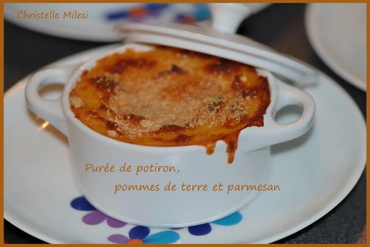 Purée de potiron, pommes de terre et parmesan