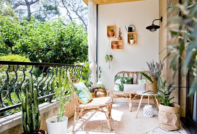 Salon de jardin en rotin